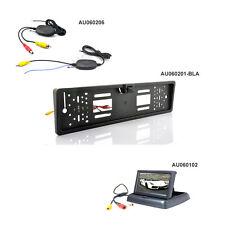 RÜCKFAHRSYSTEM 4,3 TFT klappbar Monitor + RÜCKFAHRKAMERA Nummernschild + Funk