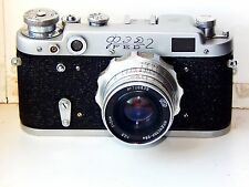 FED-2 35mm Soviett Rangefinder Film Camera (copy Leica) + lens industar 26M EXC