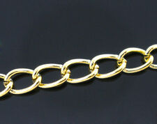 6ft Gold plated Findings Curb Link opened Chains 5.5x3.5 mm Jewelry making DIY