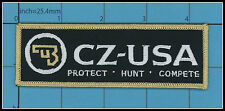CZ Ceska Zbrojovka IRON ON PATCH Gun Pistol Safe Action Handgun Police Army HUNT