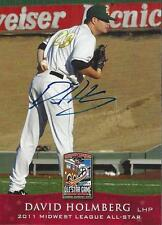 David Holmberg 2011 Midwest League All Star Signed Card