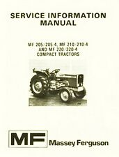 Massey Ferguson MF 205 210 220 -4 Service Info Manual