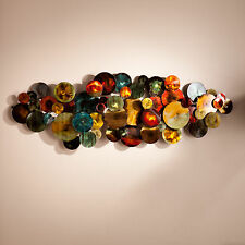 JWA97539 MULTICOLOR METAL WALL MOUNT SCULPTURE