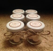 Personalised Miniature Jar Wedding Favours x 20 in Vintage Style