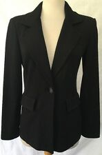 St. John Black Knit One-Button Blazer w/ Decorative Pockets Sz 2