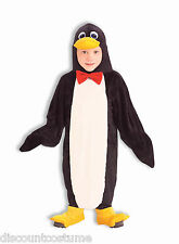 PLUSH PENGUIN JUMPSUIT & SHOE COVERS UNISEX HALLOWEEN COSTUME CHILD SZ SMALL 4-6