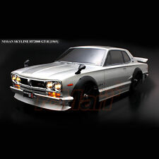 ABC Hobby NISSAN Skyline HT2000 GT-R KPGC10 190mm Body Chrome w/Parts Car #66093