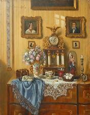 Ernst CZERNOTZKY (1869-1939) Stilleben mit Blumen und Antiquitäten