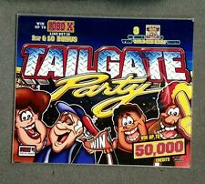 """IGT 17"""" I-Game Slot Machine TAILGATE PARTY Top Glass"""