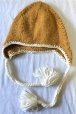 686 Pops Knit Earflap Snow Ski Snowboard Beanie Gold One Size Fits Most NEW