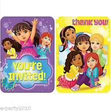 DORA THE EXPLORER Dora and Friends INVITES and THANK YOUS (8) ~ Birthday Party