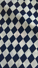 Gingham Dark Blue/White Chiffon Fabric (Very Good Quality) 6 YARDS