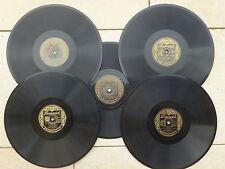 Bing Crosby - 5 Stück - 78er Schellackplatten, 25 cm, Brunswick