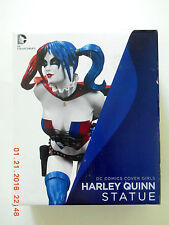 DC COLLECTIBLES COVER GIRLS FIRST PRINT HARLEY QUINN STATUE! NEW!