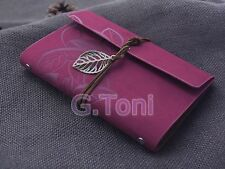 """7""""x5"""" Refillable journal Book Handmade Vintage Classic Leather Notebook Rosy red"""