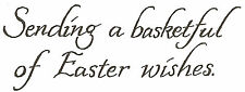 Easter Wishes Wood Mounted Rubber Stamp Northwoods Rubber Stamp New
