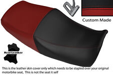 BLACK & DARK RED CUSTOM FITS YAMAHA XJR 1200 95-99 1300 98-01 DUAL SEAT COVER