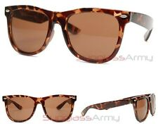 """Oversized Wayfarers"" Tortoise Shell mens womens classic havana brown hip hop"