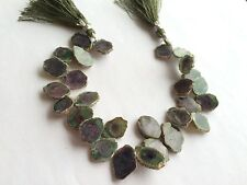 """NATURAL RUBY ZOISITE 9X12MM FREEFORM DROP BEADS 8"""""""