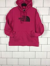 WOMENS VINTAGE RETRO DARK PINK THE NORTH FACE SWEATSHIRT SWEATER HOODIE LARGE