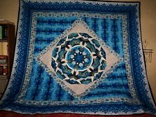 Beautiful Kaleidoscope Pattern Lap/Bed Quilt Top  - One Of A Kind #6  (86 x 86)