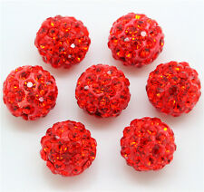 15pcs Czech Crystal Rhinestones Pave Clay Round Disco Ball DIY Spacer Bead 10mm