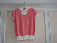 NWT JANIE AND JACK ITALIAN FLOWER GIRLS SAILOR STRIPE SWEATER 5 5T ITALIAN RED