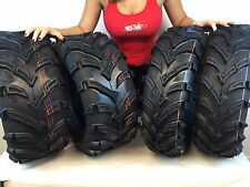 Set of 4 NEW MassFx Claw 25x8-12 Front 25x10-12 Rear ATV Tires Bear K299 6ply