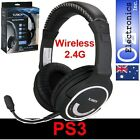 Wireless PS3 Stereo Headset Mic playstation 3 XBOX360 CHAT and Game sound NEW