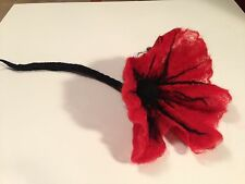 Unique aiguille feutre handmade home decor (ou broche): big poppy flower lov. - ooak