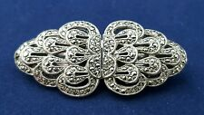 Vintage Art Deco Look Marcasite Collar Clips or Brooch