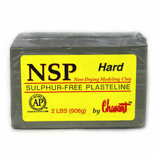 Chavant NSP HARD Green - Professional Sculpting and Modeling Clay - 2 lb Brick