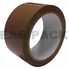 36 x Rolls Packing Economy Packaging Box Parcel Tape (48mm x 66M) BUFF / BROWN