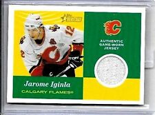 JEROME IGINLA 2001 TOIPPS HERITAGE GAME USED JERSEY
