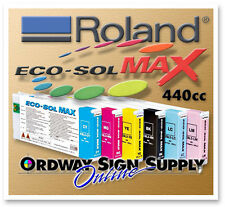 New OEM Roland Eco-Sol MAX Ink CMYK LC LM 6 440cc Cartridge Set