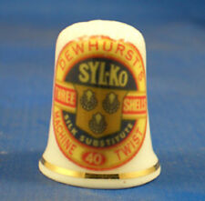 Birchcroft China Thimble - Dewhursts Sylko Sewing Thread -- Free Dome Gift Box