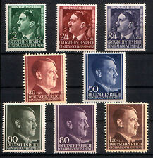 6 NAZI OCCUPIED POLAND JUMBO HITLER HEADS MNH 3.33! 3 EACH of 2 TYPES, READ DESC