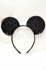 1pc Minnie Mouse Mickey Mouse Ears Headband Sequin Sparkle Shimmer Black