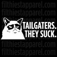"GRUMPY CAT ""Tailgaters. They Suck."" Meme Funny Angry Cat Vinyl Decal Sticker"