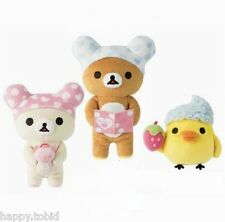 San-X Rilakkuma Heart Bath Time Series Plush Whole Set Japan Special Edition