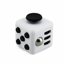 White Magic Fidget Cube Anti-anxiety  Adults Stress Relief 6 sided desk Kid Toy