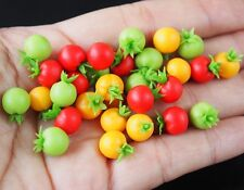 Dollhouse Miniatures 20 Loose Mixed Color Tomato Vegetable Kitchen Food Supply