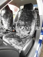 i - TO FIT A VAUXHALL ZAFIRA TOURER CAR, FRONT S/ COVERS, BLACK PANTHER FAUX FUR