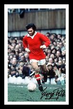 GEORGE BEST - MANCHESTER UNITED AUTOGRAPHED SIGNED & FRAMED PP POSTER PHOTO 1