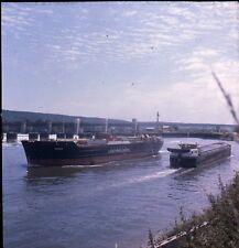 La Seine c. 1950 - Péniche ,et Cargo Londres-Paris Ektachrome - CO 10