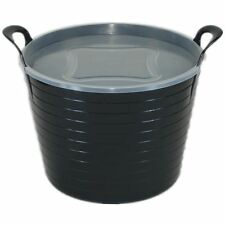 42L FLEXI TUB WITH CHOICE OF PLASTIC LID - AVAILABLE IN 9 COLOURS BUCKET,STORAGE