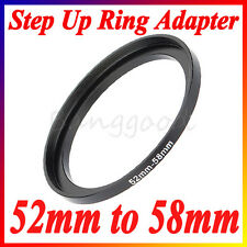 52mm-58mm 52-58mm 52 to 58 Metal Step Up Lens Filter Ring Stepping Adapter New