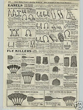 1917 PAPER AD Fly Swatter Trap Queen Perfect Swat-Sticka Swatmore Leather