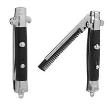 Switchblade Spring Pocket Oil Hair Comb Fold Blade Automatic Push Button Brush L