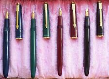 """PARKER """"SLIMFOLD""""  SET of  4 FOUNTAIN PENS   in RED; BLACK; BLUE; GREEN! RARE  !"""